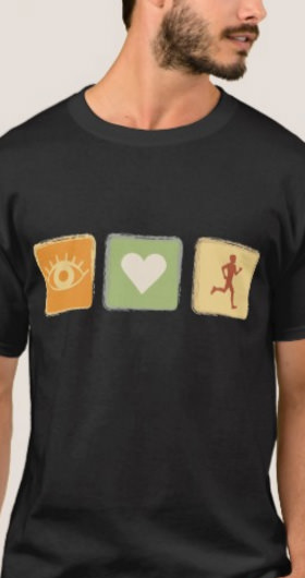 I Love Running Men's Shirt
