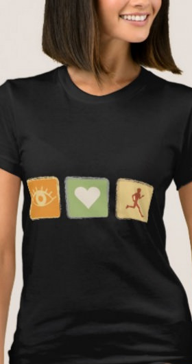 I Love Running Women's Shirt