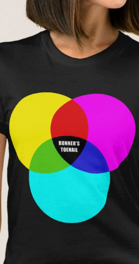CMYK Runner's Toenail Women's Shirt
