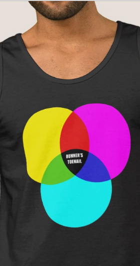 CMYK Runner's Toenail Men's Shirt
