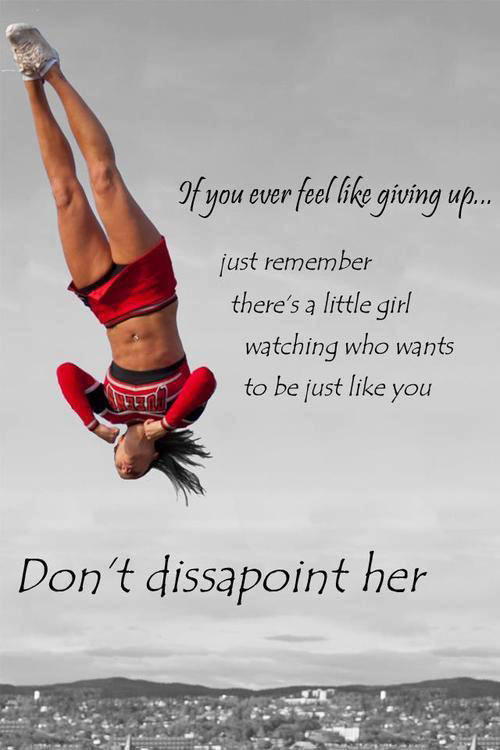 Runner Things #2218: If you ever feel like giving up, just remember there's a little girl watching ...
