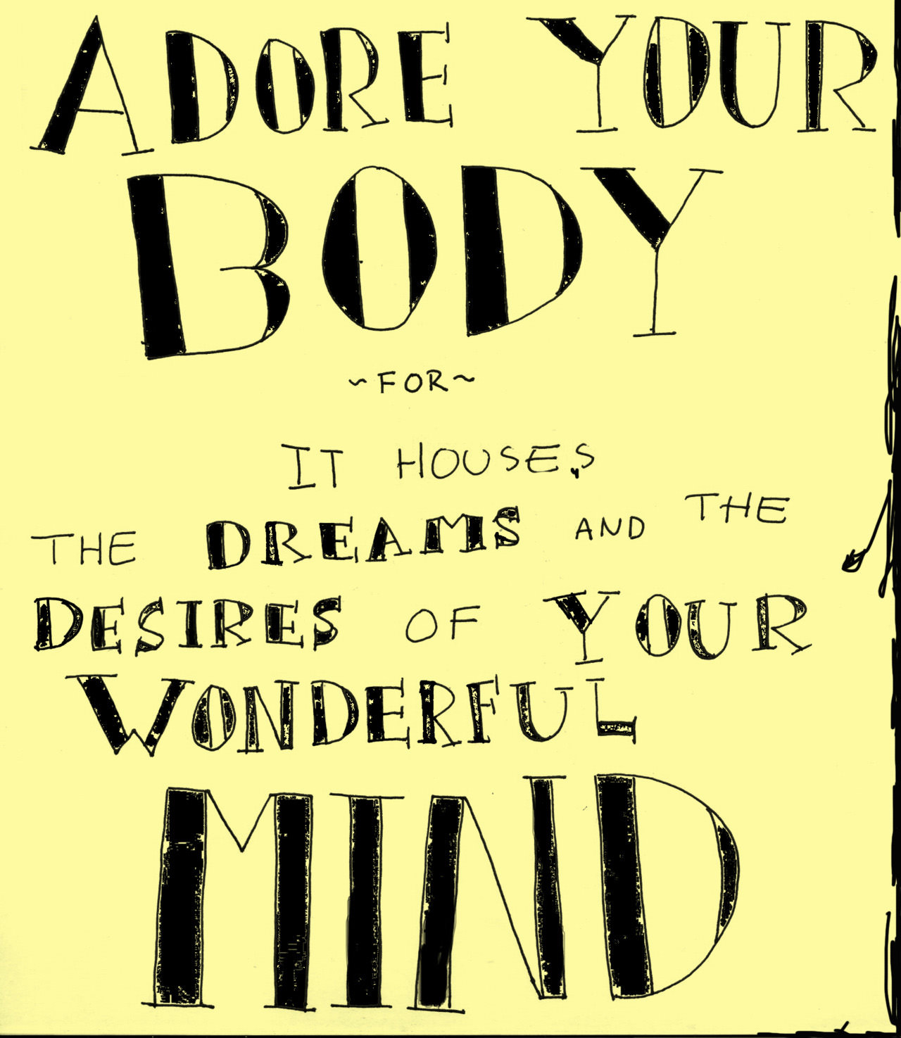 Runner things 678 adore your body for it houses the dreams and the desires