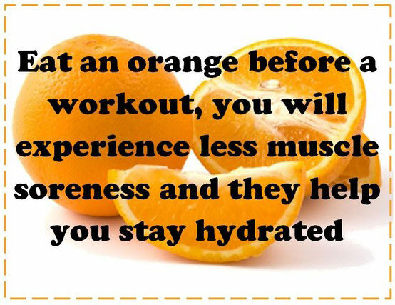 Orange before workout